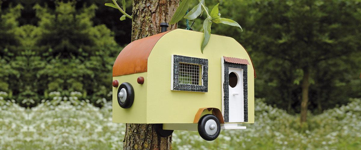 Vogelhuis caravan sfeerfoto