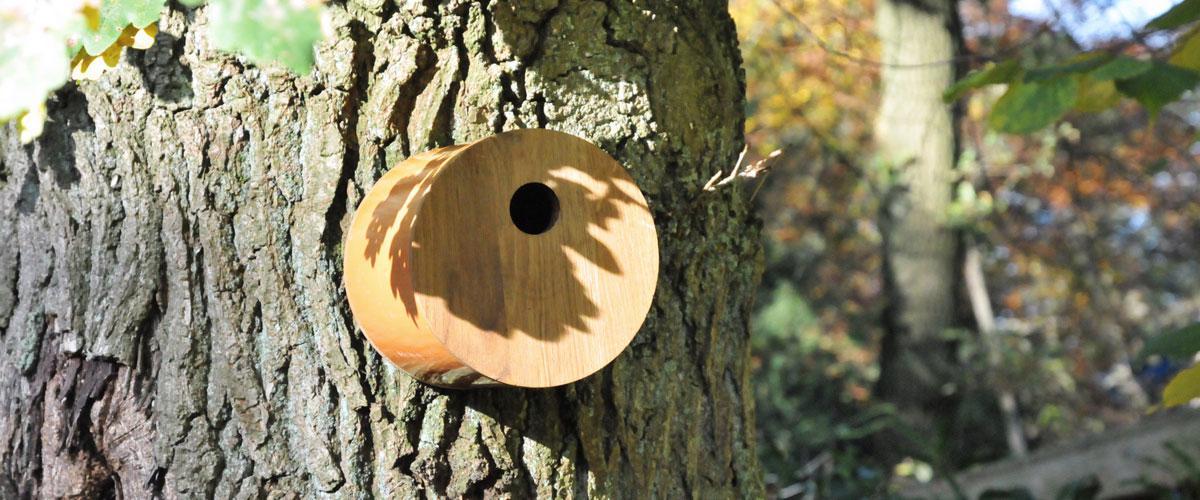 Vogelhuis cilinder sfeerfoto