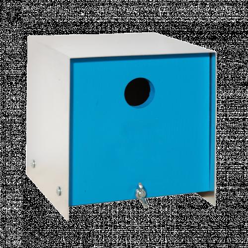 Box blauw vogelhuis
