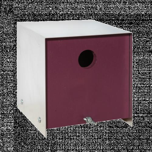 Box aubergine vogelhuis