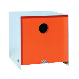 Box vogelhuis pinhout oranje
