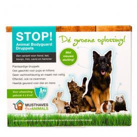 STOP! Animal Bodyguard druppels het groene plantaardige alternatief voor vlooiendruppels en tekendruppels